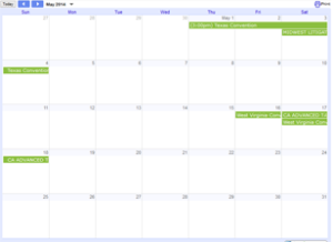 ProCAT Calendar of Events
